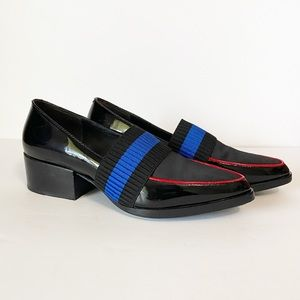 3.1 Phillip Lim | Quinn Loafers w/ black red blue
